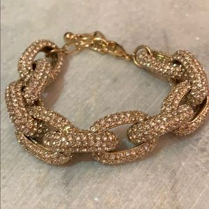 Jewelry - Pave Gold Chain Link Bracelet